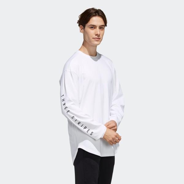 返品可 アディダス公式 ウェア トップス adidas M S2S ビッグワーディング長袖Tシャツ|adidas|04