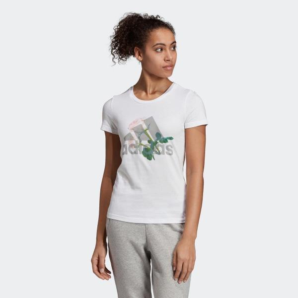 33%OFF アディダス公式 ウェア トップス adidas W MH ビッグロゴ フラワー Tシャツ adidas