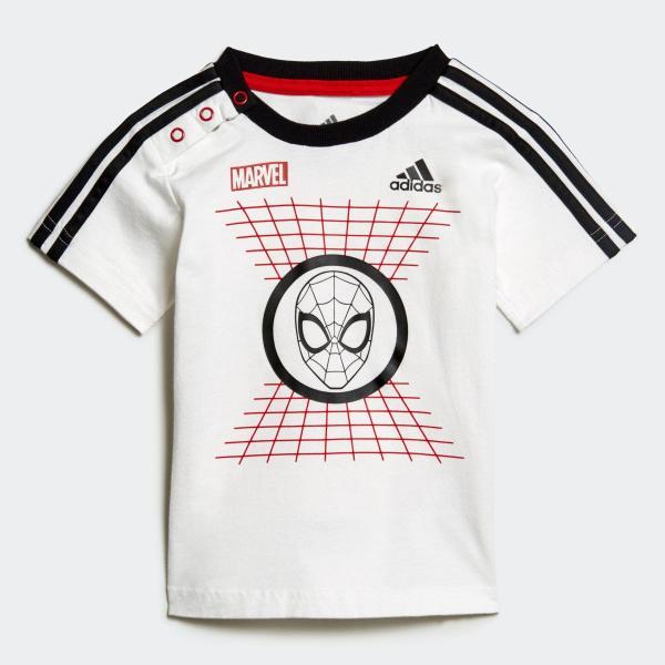 返品可 アディダス公式 ウェア セットアップ adidas I MARVEL スパイダーマン Tシャツ&ハーフパンツ上下セット|adidas|02