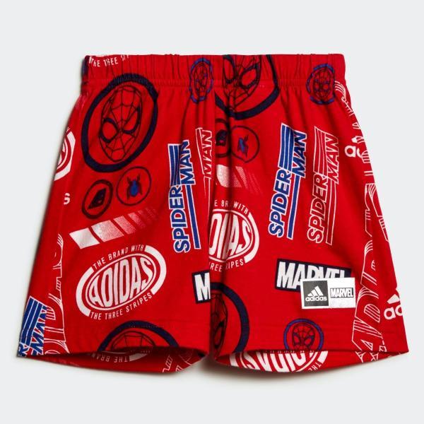 返品可 アディダス公式 ウェア セットアップ adidas I MARVEL スパイダーマン Tシャツ&ハーフパンツ上下セット|adidas|04