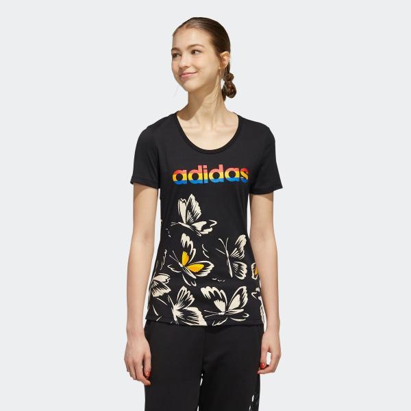 全品送料無料! 08/14 17:00〜08/22 16:59 返品可 アディダス公式 ウェア トップス adidas W FARM P Tシャツ AOP|adidas