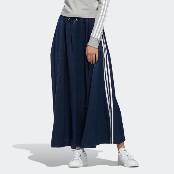 全品ポイント15倍 07/19 17:00〜07/22 16:59 返品可 送料無料 アディダス公式 ウェア ボトムス adidas ロング サテンスカート|adidas