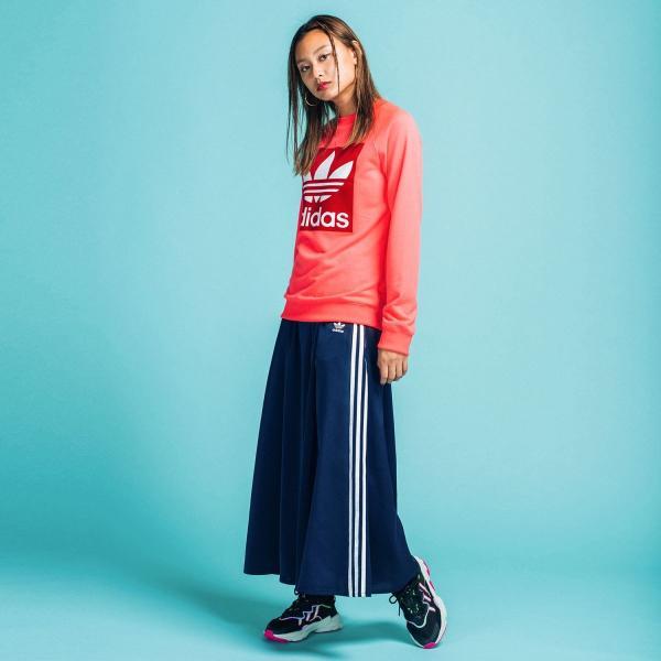 全品ポイント15倍 07/19 17:00〜07/22 16:59 返品可 送料無料 アディダス公式 ウェア ボトムス adidas ロング サテンスカート|adidas|02