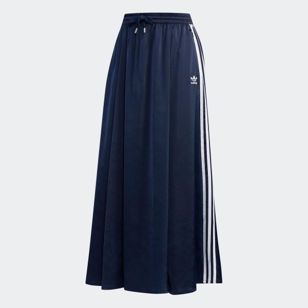 全品ポイント15倍 07/19 17:00〜07/22 16:59 返品可 送料無料 アディダス公式 ウェア ボトムス adidas ロング サテンスカート|adidas|06