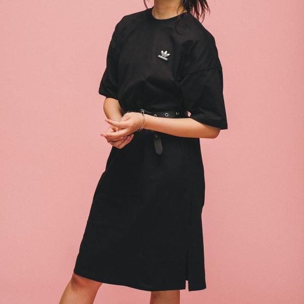 返品可 アディダス公式 ウェア オールインワン adidas トレフォイル ドレス p0924 adidas 02