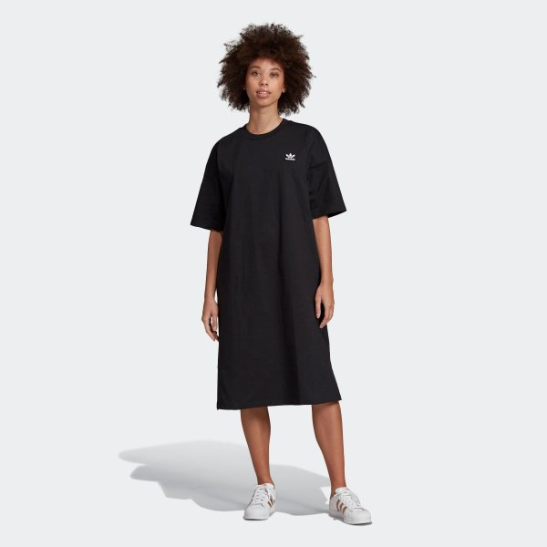 返品可 アディダス公式 ウェア オールインワン adidas トレフォイル ドレス p0924 adidas 03