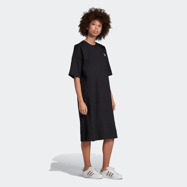 返品可 アディダス公式 ウェア オールインワン adidas トレフォイル ドレス p0924 adidas 06