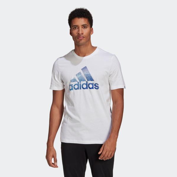 セール価格アディダス公式ウェアトップスadidasエクストリュ-ジョンモーションパフプリントロゴグラフィック半袖Tシャツ/Ext
