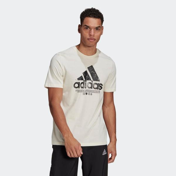 セール価格アディダス公式ウェアトップスadidasリサイクルコットンロゴグラフィック半袖Tシャツ/RecycledCottonL