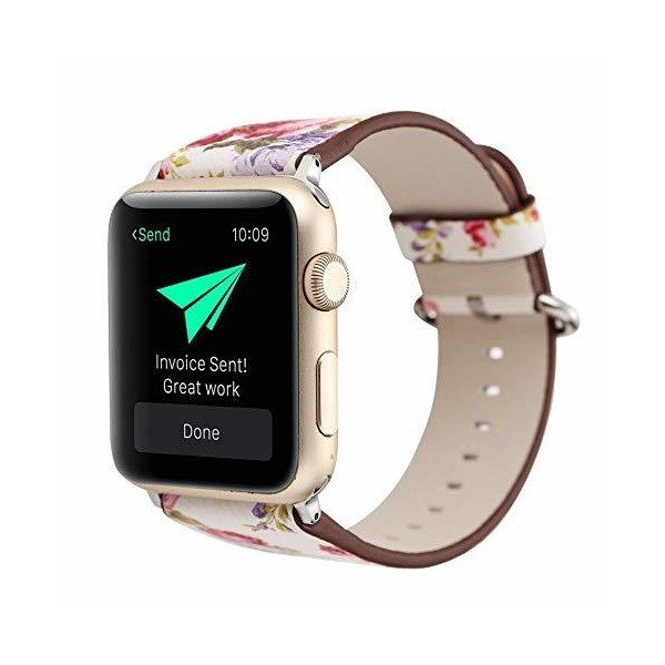 Apple Watch アップルウォッチ バンド ベルト38mm 40mm 42mm 44mm 花柄 iwatchベルト 保護ベルト レザー 交換|adnext|03
