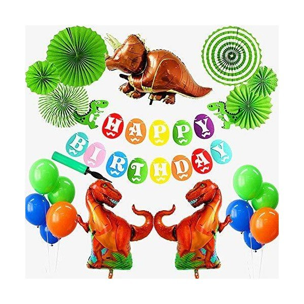 Better Stars 恐竜 ドラゴン 動物 happy birthday 特別 誕生日 飾り セット風船 空気入れ付きおもちゃ バナー ガーラン adnext