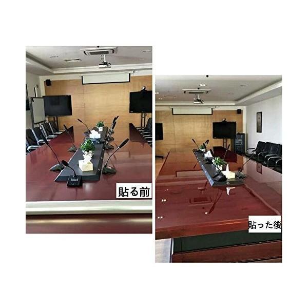 Mr.M テーブル 保護フィルム 透明フィルム テーブルマット デスクマット 卓上マット キズ防止 撥水 耐熱 キズ防止 汚れ防止 透明 ビニールシ|adnext|05