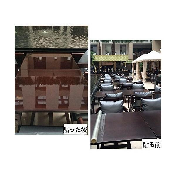 Mr.M テーブル 保護フィルム 透明フィルム テーブルマット デスクマット 卓上マット キズ防止 撥水 耐熱 キズ防止 汚れ防止 透明 ビニールシ|adnext|06