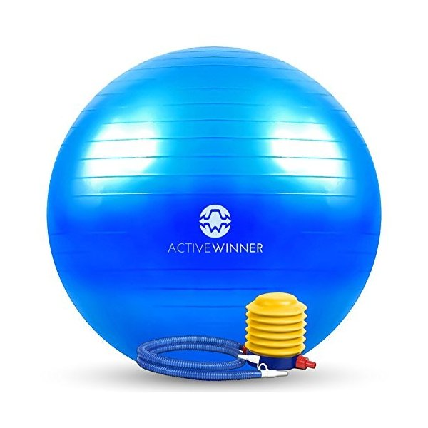 Active Winner バランスボール 65cm ブルー ポンプ付き! ヨガボール ダイエット アンチバースト仕様 adnext