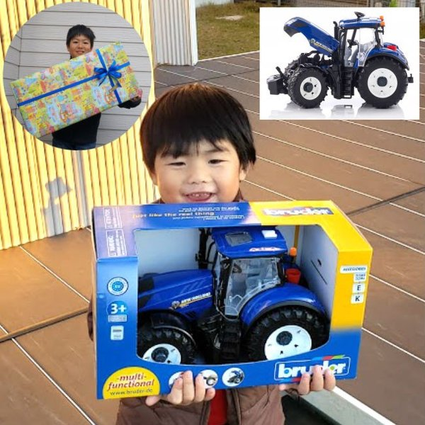 農業車農業機械おもちゃ男の子bruderブルーダーNHT7.315トラクターBR03120ミニカー知育遊び知育玩具ごっこプレゼン