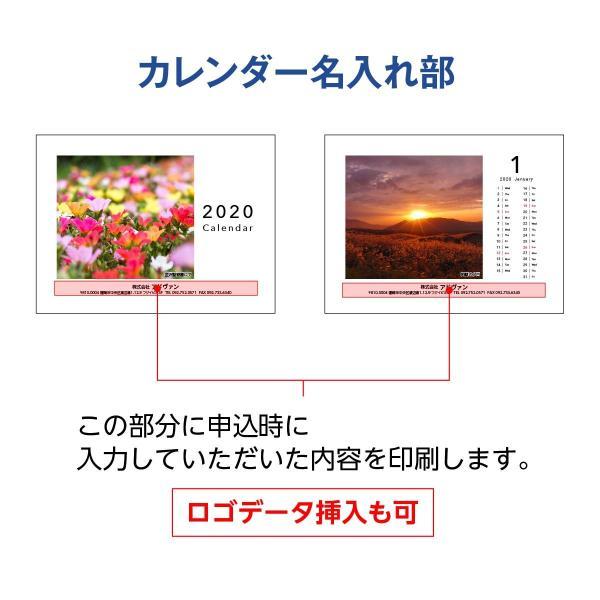 2020カレンダー ノベルティ 名入れオリジナル 壁掛け&卓上2way クラフトケース 自分の写真で 1ヵ月タイプ 30部|advan-printing|03