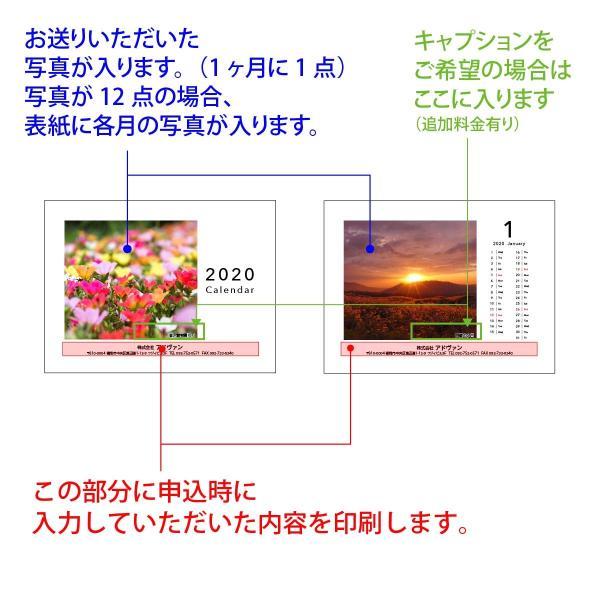 2020カレンダー ノベルティ 名入れオリジナル 壁掛け&卓上2way クラフトケース 自分の写真で 1ヵ月タイプ 30部|advan-printing|04