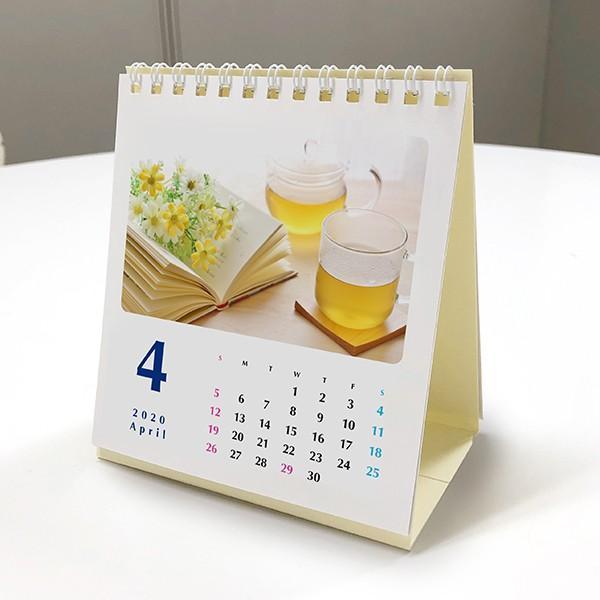 カレンダー2020 オリジナル写真を入れて作成します 10部セット 卓上リングカレンダー ミニ 自分の写真やイラストで|advan-printing|03