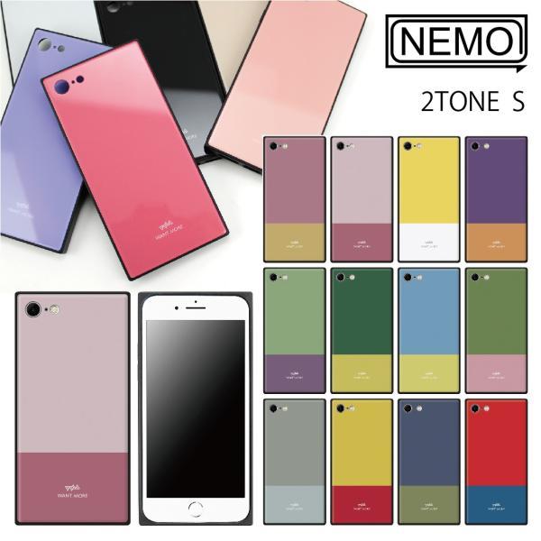 iPhone11 ケース 韓国 iPhone SE ケース iPhone8 ケース iPhoneケース iPhone11Pro ケース iPhone7 ケース iPhone SE2 ケース ガラス スクエア カラー NEMO|advan