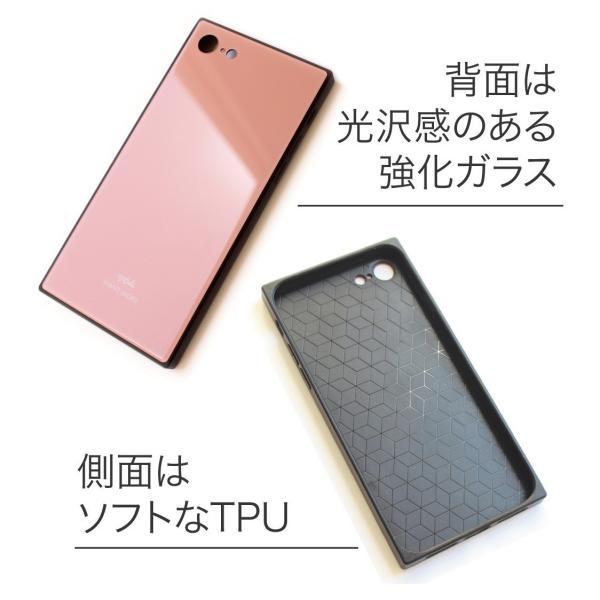 iPhone11 ケース 韓国 iPhone SE ケース iPhone8 ケース iPhoneケース iPhone11Pro ケース iPhone7 ケース iPhone SE2 ケース ガラス スクエア カラー NEMO|advan|02
