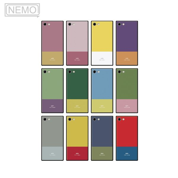 iPhone11 ケース 韓国 iPhone SE ケース iPhone8 ケース iPhoneケース iPhone11Pro ケース iPhone7 ケース iPhone SE2 ケース ガラス スクエア カラー NEMO|advan|06
