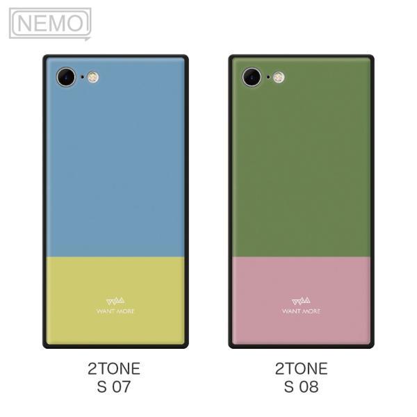 iPhone11 ケース 韓国 iPhone SE ケース iPhone8 ケース iPhoneケース iPhone11Pro ケース iPhone7 ケース iPhone SE2 ケース ガラス スクエア カラー NEMO|advan|10