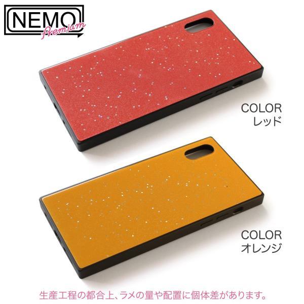 iPhone XR ケース iPhone XS ケース iPhone8 ケース iPhone XS Max X 8 7 8Plus 7Plus ケース ガラス 四角 カラー ラメ NEMO|advan|11