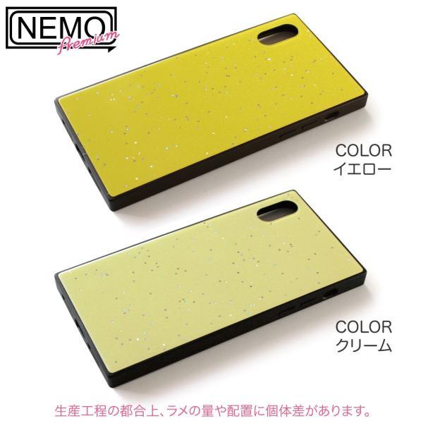 iPhone XR ケース iPhone XS ケース iPhone8 ケース iPhone XS Max X 8 7 8Plus 7Plus ケース ガラス 四角 カラー ラメ NEMO|advan|12
