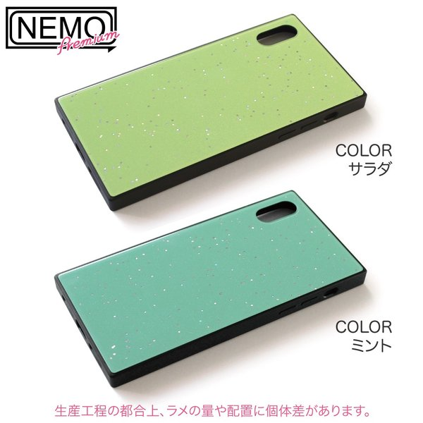 iPhone XR ケース iPhone XS ケース iPhone8 ケース iPhone XS Max X 8 7 8Plus 7Plus ケース ガラス 四角 カラー ラメ NEMO|advan|13