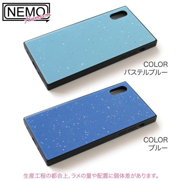 iPhone XR ケース iPhone XS ケース iPhone8 ケース iPhone XS Max X 8 7 8Plus 7Plus ケース ガラス 四角 カラー ラメ NEMO|advan|14