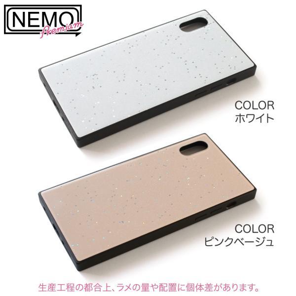 iPhone XR ケース iPhone XS ケース iPhone8 ケース iPhone XS Max X 8 7 8Plus 7Plus ケース ガラス 四角 カラー ラメ NEMO|advan|16