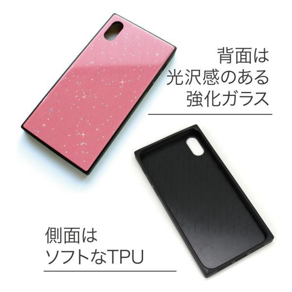 iPhone XR ケース iPhone XS ケース iPhone8 ケース iPhone XS Max X 8 7 8Plus 7Plus ケース ガラス 四角 カラー ラメ NEMO|advan|03