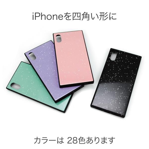 iPhone XR ケース iPhone XS ケース iPhone8 ケース iPhone XS Max X 8 7 8Plus 7Plus ケース ガラス 四角 カラー ラメ NEMO|advan|05
