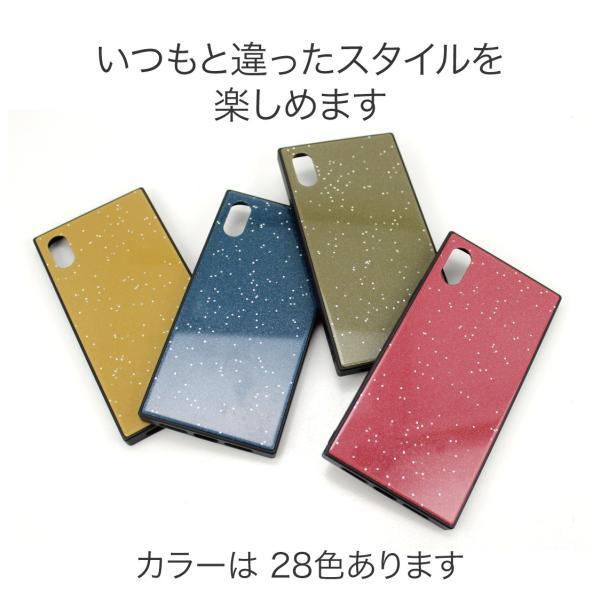 iPhone XR ケース iPhone XS ケース iPhone8 ケース iPhone XS Max X 8 7 8Plus 7Plus ケース ガラス 四角 カラー ラメ NEMO|advan|06