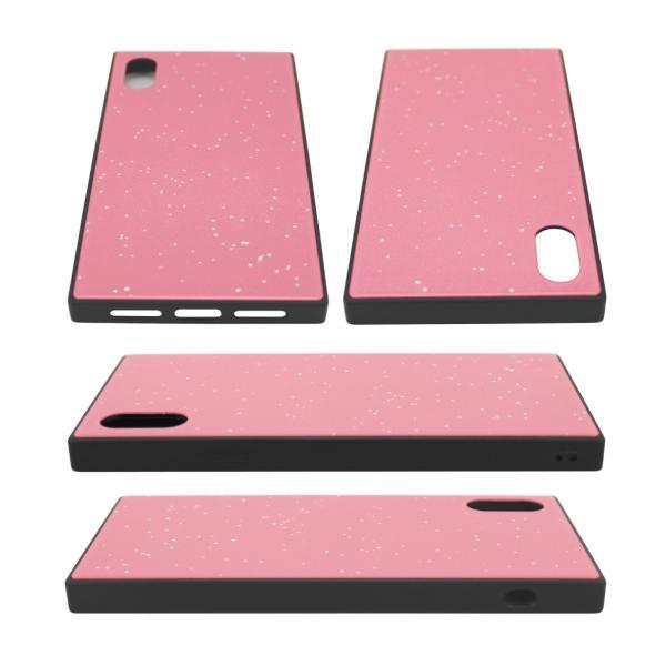 iPhone XR ケース iPhone XS ケース iPhone8 ケース iPhone XS Max X 8 7 8Plus 7Plus ケース ガラス 四角 カラー ラメ NEMO|advan|07