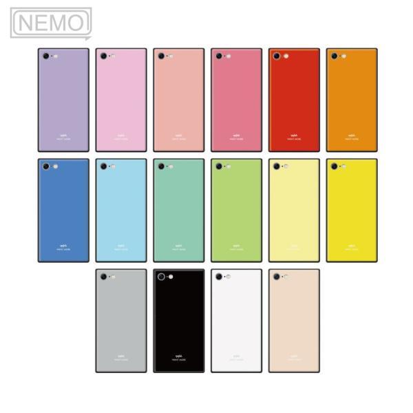 iPhone11 ケース スクエア iPhone8 ケース iPhone11Pro ケース iPhone XR ケース iPhone  XS XSMax X 8 7 8Plus 7Plus ケース ガラス 四角 カラー NEMO|advan|06