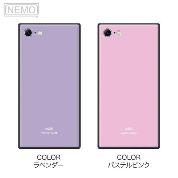 iPhone11 ケース スクエア iPhone8 ケース iPhone11Pro ケース iPhone XR ケース iPhone  XS XSMax X 8 7 8Plus 7Plus ケース ガラス 四角 カラー NEMO|advan|07