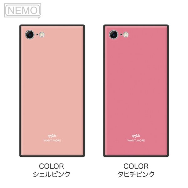 iPhone11 ケース スクエア iPhone8 ケース iPhone11Pro ケース iPhone XR ケース iPhone  XS XSMax X 8 7 8Plus 7Plus ケース ガラス 四角 カラー NEMO|advan|08