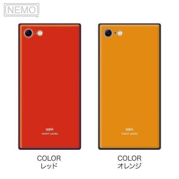 iPhone11 ケース スクエア iPhone8 ケース iPhone11Pro ケース iPhone XR ケース iPhone  XS XSMax X 8 7 8Plus 7Plus ケース ガラス 四角 カラー NEMO|advan|09