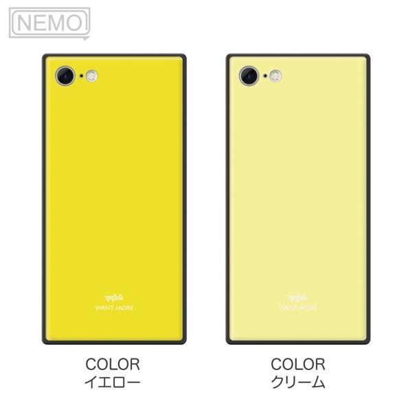 iPhone11 ケース スクエア iPhone8 ケース iPhone11Pro ケース iPhone XR ケース iPhone  XS XSMax X 8 7 8Plus 7Plus ケース ガラス 四角 カラー NEMO|advan|10