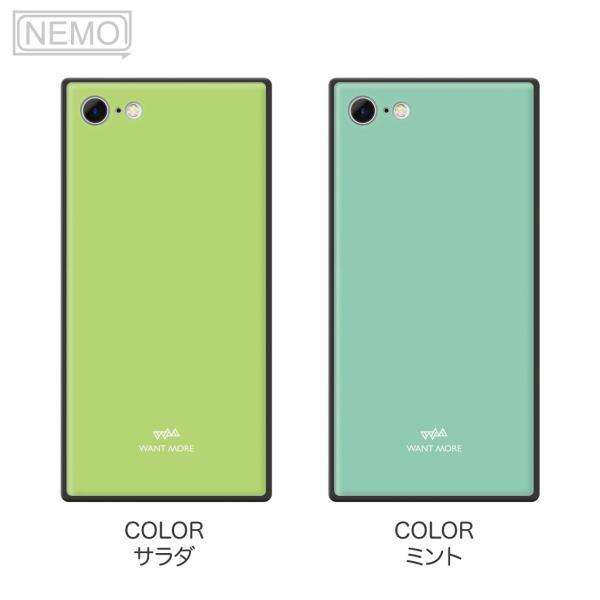 iPhone11 ケース スクエア iPhone8 ケース iPhone11Pro ケース iPhone XR ケース iPhone  XS XSMax X 8 7 8Plus 7Plus ケース ガラス 四角 カラー NEMO|advan|11