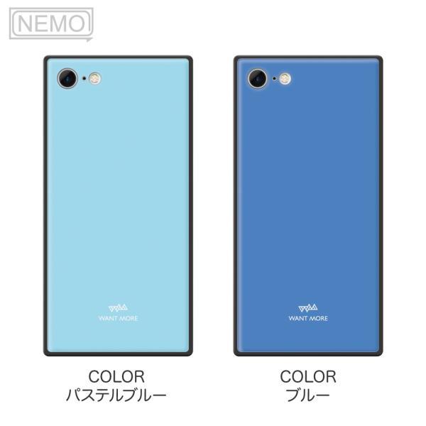 iPhone11 ケース スクエア iPhone8 ケース iPhone11Pro ケース iPhone XR ケース iPhone  XS XSMax X 8 7 8Plus 7Plus ケース ガラス 四角 カラー NEMO|advan|12