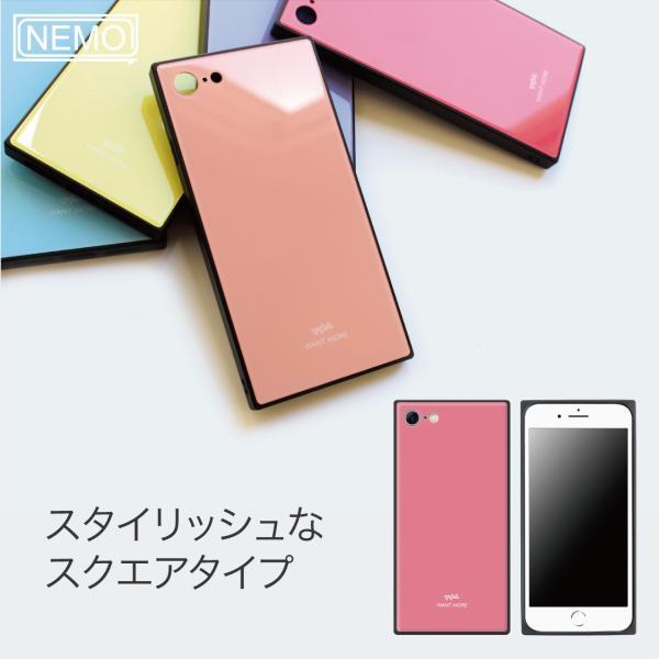 iPhone11 ケース スクエア iPhone8 ケース iPhone11Pro ケース iPhone XR ケース iPhone  XS XSMax X 8 7 8Plus 7Plus ケース ガラス 四角 カラー NEMO|advan|03