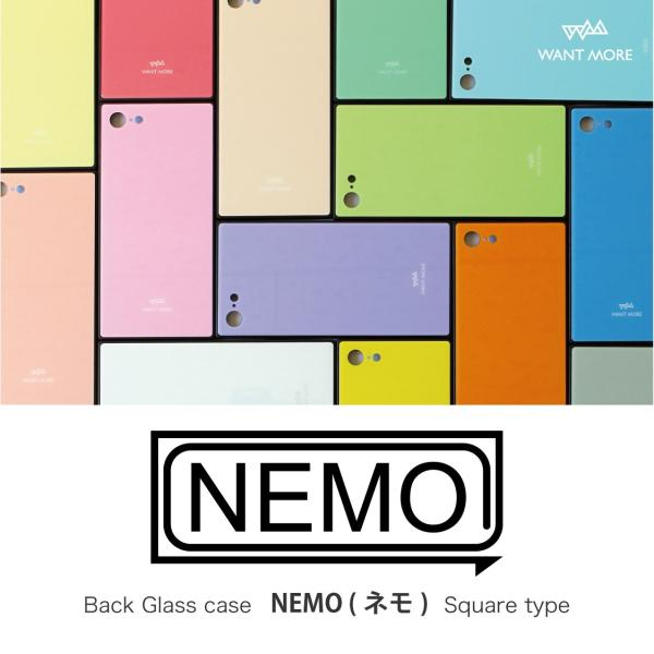 iPhone11 ケース スクエア iPhone8 ケース iPhone11Pro ケース iPhone XR ケース iPhone  XS XSMax X 8 7 8Plus 7Plus ケース ガラス 四角 カラー NEMO|advan|15