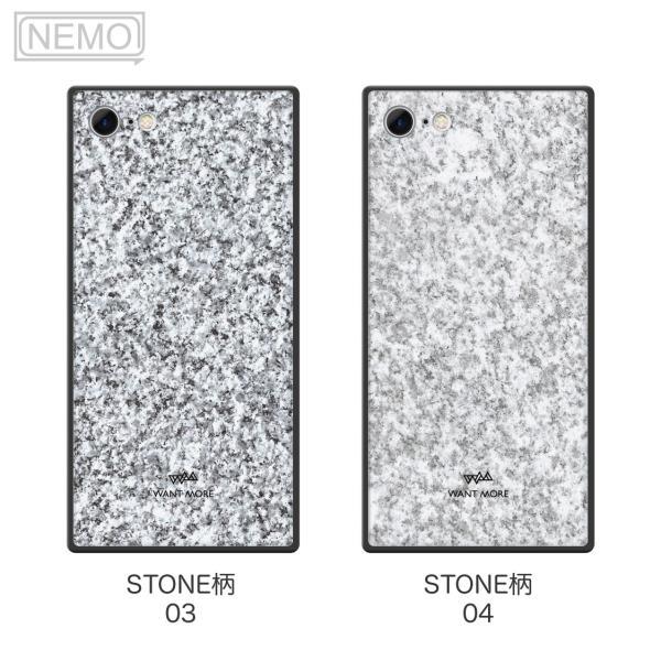 iPhone11Pro ケース スクエア iPhone8 ケース iPhone11 ケース iPhone XR ケース iPhone 11ProMax XS XSMax X 7 8Plus 7Plus ケース ガラス 大理石 NEMO advan 10