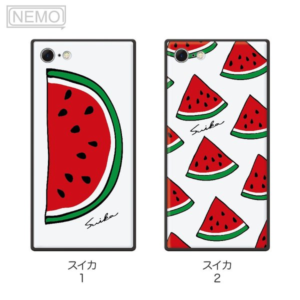 iPhone8 ケース ガラス iPhone11 ケース iPhone11Pro ケース iPhone XR ケース iPhone 11ProMax XS XSMax X 8 7 8Plus 7Plus ケース スクエア フルーツ NEMO|advan|07