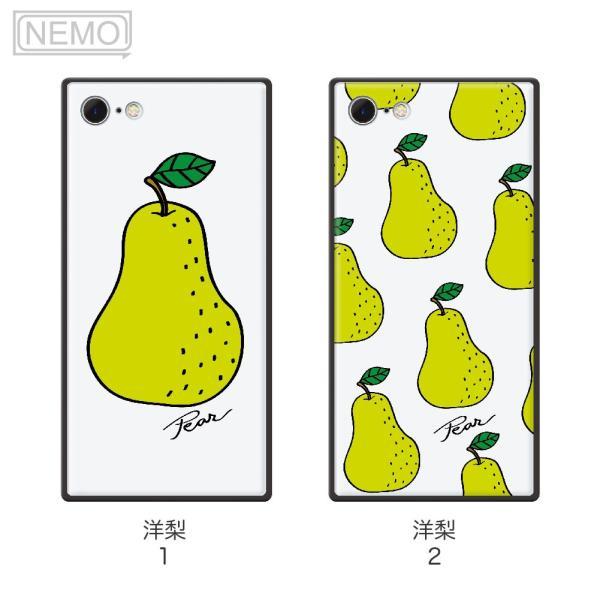 iPhone8 ケース ガラス iPhone11 ケース iPhone11Pro ケース iPhone XR ケース iPhone 11ProMax XS XSMax X 8 7 8Plus 7Plus ケース スクエア フルーツ NEMO|advan|10