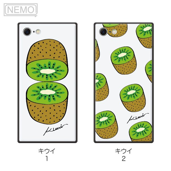 iPhone8 ケース ガラス iPhone11 ケース iPhone11Pro ケース iPhone XR ケース iPhone 11ProMax XS XSMax X 8 7 8Plus 7Plus ケース スクエア フルーツ NEMO|advan|12