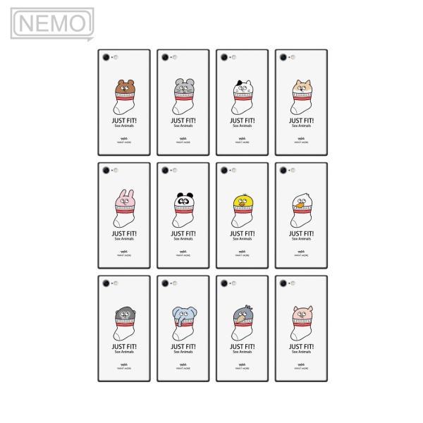 iPhone11Pro ケース ガラス iPhone11 ケース iPhone8 ケース iPhone XR ケース iPhone 11ProMax XS XSMax X 7 8Plus 7Plus ケース スクエア 動物 NEMO|advan|06