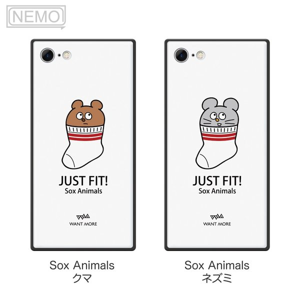 iPhone11Pro ケース ガラス iPhone11 ケース iPhone8 ケース iPhone XR ケース iPhone 11ProMax XS XSMax X 7 8Plus 7Plus ケース スクエア 動物 NEMO|advan|07